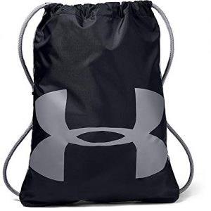 Under Armour Ozsee Sackpack, Black (001)/Steel, One Size Fits All